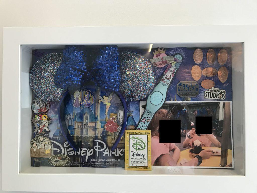 DIY Disney matkamuistotaulu