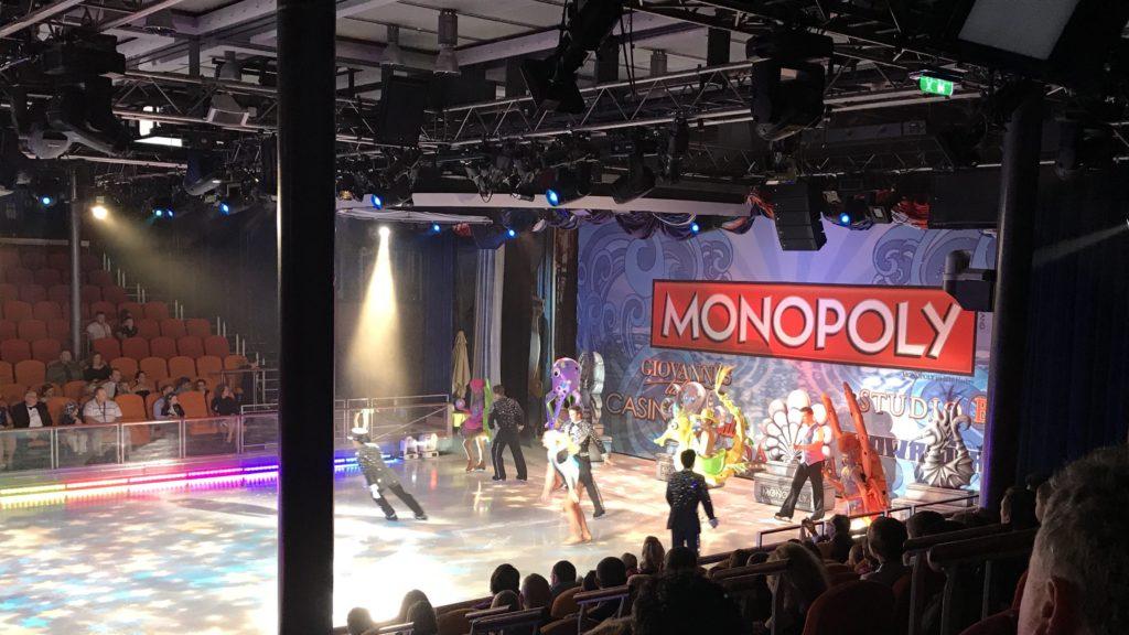 Viihdettä Karibian risteilyllä - Monopoly jääshow.