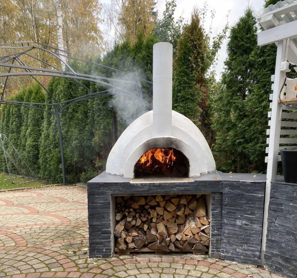 Pizzauunin lämmitys.