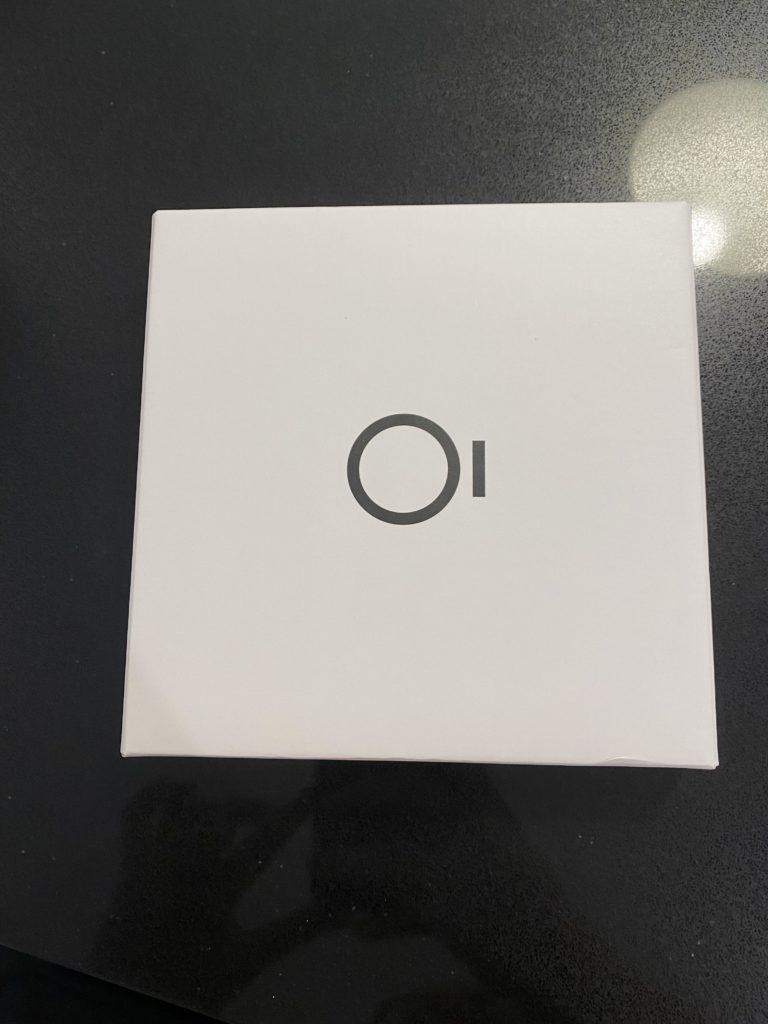 Oura-sormuksen koesormukset laatikossa.